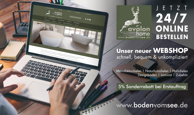 Parkett + Boden Online für Privatkunden mit B2C mit Service und Avalon Pro für Handwerker.